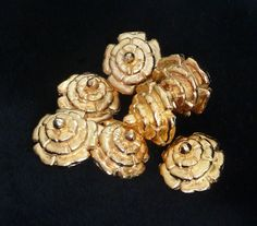 Replica Tudor GoldPlated Dudley Buttons for by TheTudorTailor, £4.00