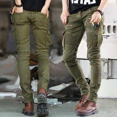 31.28$  Buy here - https://alitems.com/g/1e8d114494b01f4c715516525dc3e8/?i=5&ulp=https%3A%2F%2Fwww.aliexpress.com%2Fitem%2F2016-Green-Designer-Men-Black-Biker-Jeans-elastic-Mens-Slim-Fit-Stretch-Skinny-Pants-Denim-Biker%2F32705983131.html - 2016 Green Designer Men Black Biker Jeans elastic Mens Slim Fit Stretch Skinny Pants Denim Biker Military Jeans Runway