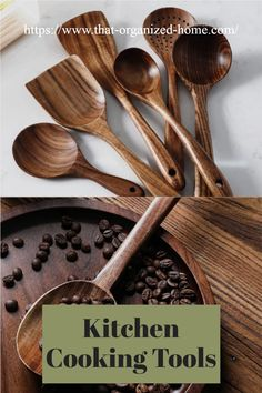 ALL YOU NEED IN ONE SET-An ideal Wooden Kitchen Utensil Set that features all the essential cooking tools including Wok Turner, Flat Spatula, Soup Ladle, Serving Spoons & Pasta Server,etc.Covers all your kitchen needs from stirring to cooking, and with hanging holes for wall storage easily. Kitchen Utensil Organization, Kitchen Utensil Set, Wooden Kitchen, Kitchen Decor, Essential Kitchen Tools, Wall Storage, Cooking Tools, Wok, Spoons