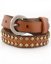 leather studded bracelet.