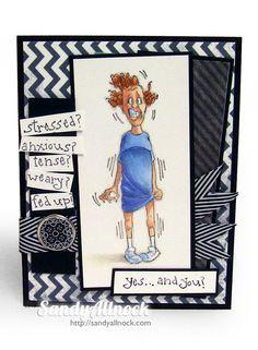 Sandy Allnock - Sylvia Stress Art Impressions