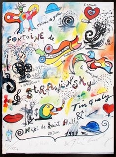Tinguely Jean : Signed print : Stravinsky Fountain