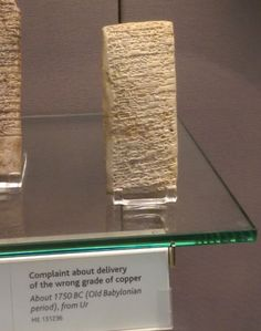 Ancient 3,700-Year Old 'Customer Service Complaint' Inscribed On A Babylonian Tablet.