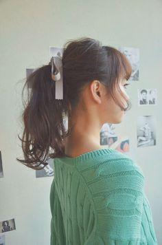 Kpop Hair, Kawaii Hairstyles, Hair Arrange, Ideal Beauty, Every Woman, Hair Growth, Hair Makeup, Drop Earrings, Long Hair Styles