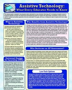 Wonderful resource for the classroom and for college courses in assistive technology