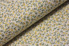 ZBYTKÁRNA | ZB 586 Mini růžičky žluté 1m | LÁTKY METRÁŽ | PATCHWORK | GALANTERIE