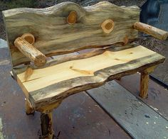 Hey, I found this really awesome Etsy listing at https://www.etsy.com/listing/209379595/log-bench-with-backrest-and-armrests