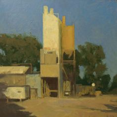 Frank Hobbs: Cement Plant, oil on panel, 24 x 24 in.