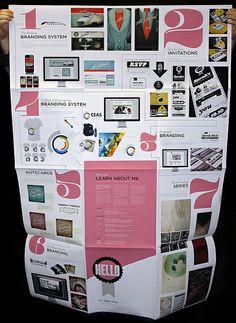 Brilliantly designed foldout portfolio,if only teachers needed portfolios...