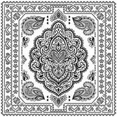 Schöne indische Mandala floral ornament — Stockvektor