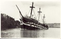 HMS Conway aground on the Menai Straits Melbourne Stars, Liverpool Town, Old Sailing Ships, Abandoned Ships, Anglesey, Shipwreck, Tall Ships, Battleship, Old Photos