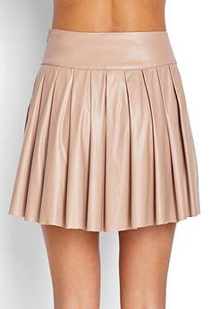 Faux Leather Skater Skirt   FOREVER 21 - 2000063064