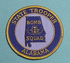 ALABAMA STATE TROOPER  BOMB SQUAD PATCH