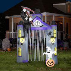 9.5Ft Gemmy Airblown Lighted Reaper Archway Halloween Inflatable Yard Prop Decor #GemmyIndustriesCorp