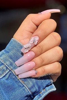 Here are the most popular coffin nails designs, and trendy coffin nails colors. Just check out our cherry-picked nails and choose your favorite to be a star! Bling Acrylic Nails, Square Acrylic Nails, Summer Acrylic Nails, Glam Nails, Best Acrylic Nails, Coffin Nails, Pastel Nails, Spring Nails, Pastel Pink