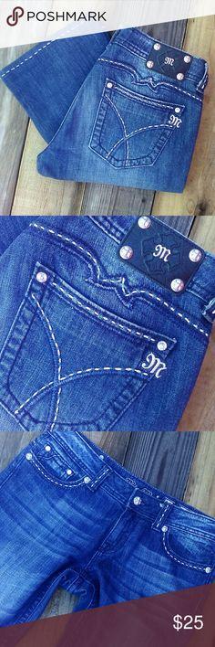 """Miss Me Jeans Miss Me boot cut jeans. EUC. Waist  34"""". Inseam 32"""". Dark finish. No flaw's. Miss Me Jeans Boot Cut"""