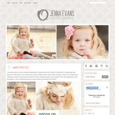 Premade Blogger Template - Photography Blog Template with Slider. $35.00, via Etsy.