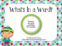 This packet contains games and activities to help students become more fluent readers.  It includes:- nonsense word flashcards with a teacher a...
