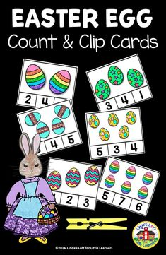 Develop counting and number recognition skills with these fun and engaging Easter egg count and clip cards. Perfect for your Easter, spring, or math centers! Easter Activities For Preschool, Counting Activities, Easter Crafts For Kids, In Kindergarten, Preschool Activities, April Preschool, Numbers Preschool, Number Recognition, Easter Eggs