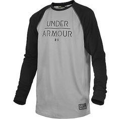 Under Armour Ua Halen Mens 1253299-001 Black Grey Long Sleeve Tee T-Shirt Size M