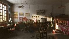 中式老房子 Rustic Home Offices, Asian House, Spaceship Interior, Interior And Exterior, Interior Design, English Decor, Old Room, Environment Design, Living Spaces