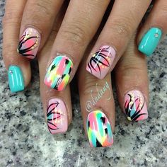 nails - Pink and white stripes with anchor toes Id like to do this in blue and white with a yellow anchor for LSSU. Get Nails, Fancy Nails, Hair And Nails, Pink Nails, Fabulous Nails, Gorgeous Nails, Pretty Nails, Nail Polish Designs, Nail Art Designs