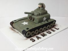 Army Tank Birthday Cake