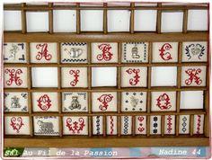 Letterbak borduren