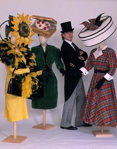David Shilling in the middle of some of the hats he designed that were worn to Ascot by his mother Gertrude Shilling, until her death in 1999.