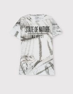 Pull&Bear - hombre - camisetas - camiseta print manga corta - blanco - 09237592-I2016