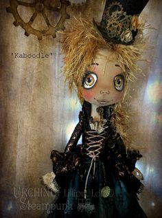 Urchin art doll Steampunk 'Kaboodle' by Vicki @ Lilliput Loft