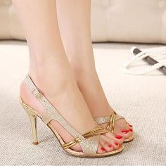 Hollow Out Fashion Thin Peep Toe High Heel Sandals