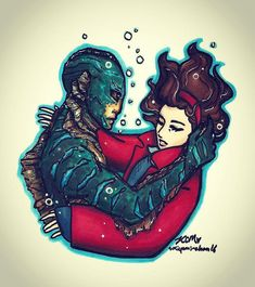 Get an inside look at Guillermo del Toro's latest film, The Shape of Water, through the design and production of its charming and unconventional amphibian love interest. Guillermo Del Torro, Moving Movie, Water Movie, The Shape Of Water, Black Lagoon, Fantasy Movies, Queen Bees, Amphibians, Anime Couples