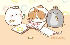 Fan art: spageti llama's molang i. Chibi Kawaii, Kawaii Cute, Kawaii Drawings, Cute Drawings, Posca Art, Molang, Cartoon Painting, Dibujos Cute, Kawaii Shop