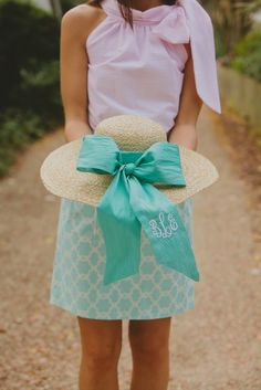 Embroidered Ribbon on Sun hat - hurry up and get here Steeplechase!