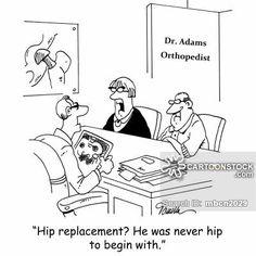 Medical Cartoons, Doctor Cartoons and Hospital Cartoons by Marty Bucella. Hospital Cartoon, Nurse Cartoon, Funny Cartoons, Funny Comics, Cartoon Jokes, Surgery Humor, Medical Jokes, Business Cartoons, Hip Problems