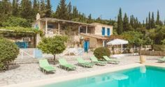 exterior and pool in the Traditional villa for 8 in North Zakynthos, Greece, near The Peligoni Club with a pool