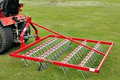 Towable scarifying rake Towable scarifying rake for removing moss and thatch from your lawn or fields. Lawns and horse paddocks benefit from scarifying ensuring healthy grass growth.  For more info: http://www.fresh-group.com/scarifying-rakes.html