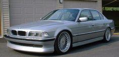 BMW E32 7 series silver Alpina wheels