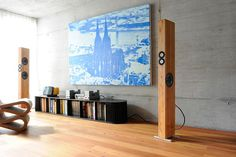 High-end audio listening room speaker (fb)