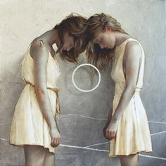 Painting by Brad Kunkle, based in Brooklyn. I like this more for the pose than for the style.