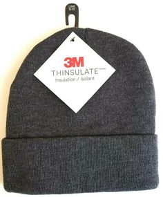 3M Igloo Men s Thinsulate Cuff Winter Beanie Hat Gray One Size  3M  Beanie  Beanie 6d093f83b