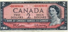 Canada had two dollar bills.