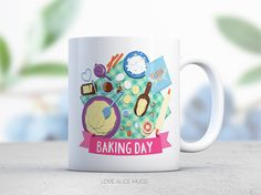 Bakers Gift Baking Day Cookie Cake Cupcake Coffee by lovealicemugs