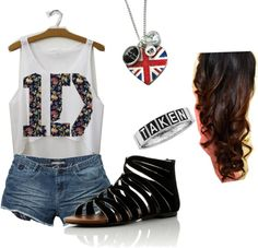 One Direction3, created by molliebm on Polyvore I think I've seen someone in a pic wearing this!