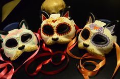 animal day of the dead masks