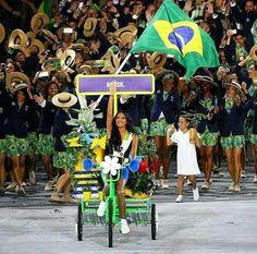 Entrada do Brasil na abertura das olimpíadas 2016