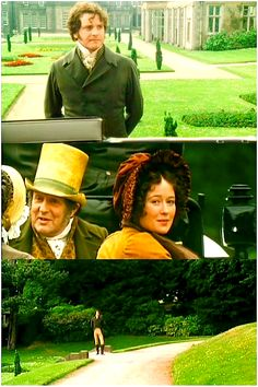 she looked back... :) Margaret in North and South needs to take lessons. (Pride and Prejudice 1995)