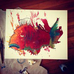 Sad clown fish  #art #painting
