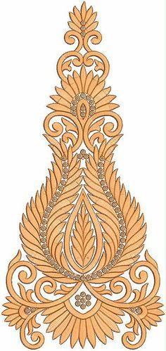 mosterd kleur vryhand styl Patch